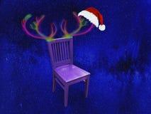 Le trône peu commun de nouvelle année de Santa Claus image libre de droits