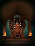 Le trône de Teutates, 3d CG. Image libre de droits