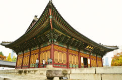 Le trône principal du palais de Deoksugung à Séoul, Corée du Sud images stock