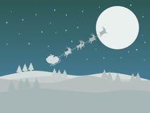 Le traîneau de Santa Image libre de droits