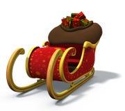 Le traîneau de Santa Photo libre de droits