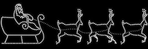 Le traîneau de Santa avec des rennes illustration stock