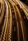 Fiume Squiggly di traffico fotografia stock libera da diritti