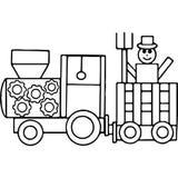 Le tracteur badine les chiffres géométriques colorant la page Image libre de droits