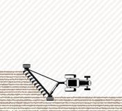Le tracteur laboure le champ avant l'ensemencement Travaux sur le terrain de ressort ou d'automne Travail à la ferme Image libre de droits