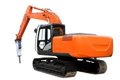 Le tracteur orange moderne images stock