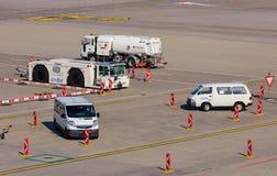Le trafic à l'aéroport de Zurich Photos libres de droits
