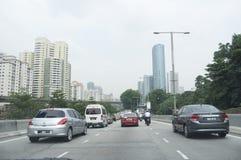 Le trafic à la route Photographie stock libre de droits