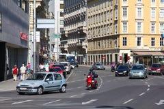 Le trafic à Vienne Image libre de droits