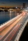 Le trafic d'heure de pointe de Brisbane Image stock