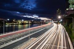 Le trafic d'heure de pointe de Brisbane Images libres de droits