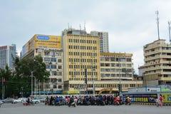 Le trafic dans la ville de Guangzhou, Chine Image stock