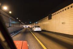Le trafic dans le tunnel La Havane de voiture Photo libre de droits