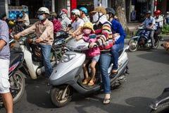Le trafic dans Saigon Images libres de droits
