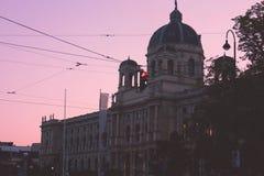 Le trafic de bâtiment de Vienne images stock