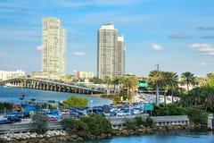 Le trafic de baie de Biscayne Photographie stock libre de droits