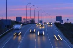 Le trafic de matin Photo libre de droits