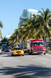 Le trafic de Miami Photo libre de droits