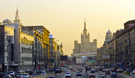 Le trafic de Moscou Photos stock