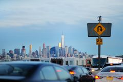 Le trafic de New York City en heure de pointe Photo stock