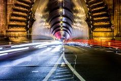 Le trafic de nuit Photo stock