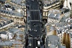 Le trafic de Paris photographie stock