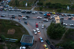 Le trafic de rue et courrier de police Tyumen Russie Photo libre de droits