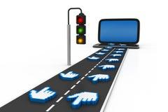 Le trafic de site Web Images stock