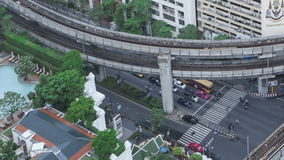 Le trafic de Timelapse Bangkok banque de vidéos