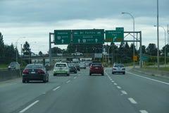 Le trafic de Vancouver Image libre de droits