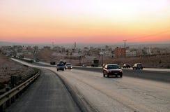 Le trafic de voiture. Images stock