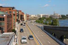 Le trafic de Washington DC Image libre de droits