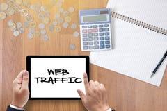 Le TRAFIC de WEB (conce d'affaires, de technologie, d'Internet et de mise en réseau Image stock