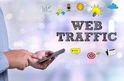 Le TRAFIC de WEB (conce d'affaires, de technologie, d'Internet et de mise en réseau Photographie stock