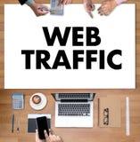 Le TRAFIC de WEB (conce d'affaires, de technologie, d'Internet et de mise en réseau Image libre de droits