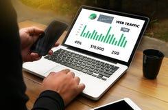 Le TRAFIC de WEB (conce d'affaires, de technologie, d'Internet et de mise en réseau Photo stock