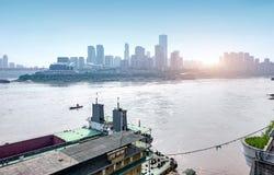 Le trafic dimensionnel de la Chine Chongqing images libres de droits