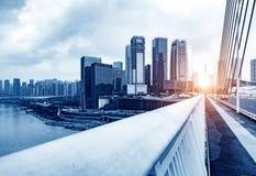 Le trafic dimensionnel de la Chine Chongqing image stock