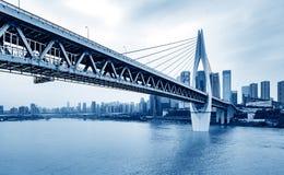 Le trafic dimensionnel de la Chine Chongqing photographie stock libre de droits