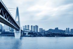 Le trafic dimensionnel de la Chine Chongqing photo stock