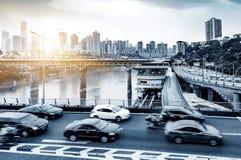 Le trafic dimensionnel de la Chine Chongqing Image libre de droits