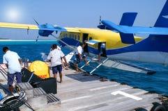 Le trafic eau-air dans l'Océan Indien Photos stock