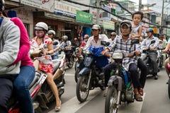 Le trafic en Ho Chi Minh City Photos stock