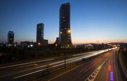 le trafic et plazas d'Istanbul de Long-exposition Photo libre de droits