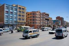 Le trafic ordinaire dans les rues de La Paz, Bolivie Photo libre de droits