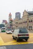 Le trafic ordinaire de rue au centre de Kuala Lumpur, Malaisie Photographie stock