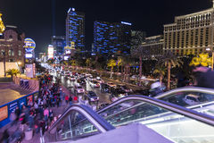 Le trafic piétonnier de Las Vegas Photo stock