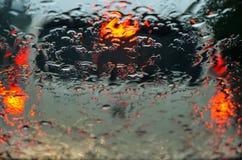 Le trafic - pluie Images libres de droits