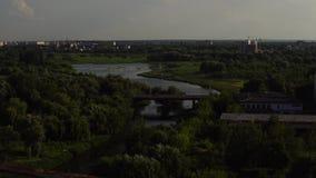 Le trafic sur des ponts 21-06-2018 - Lutsk, Ukraine banque de vidéos