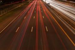 Le trafic sur la route à Bangkok, Thaïlande Images stock